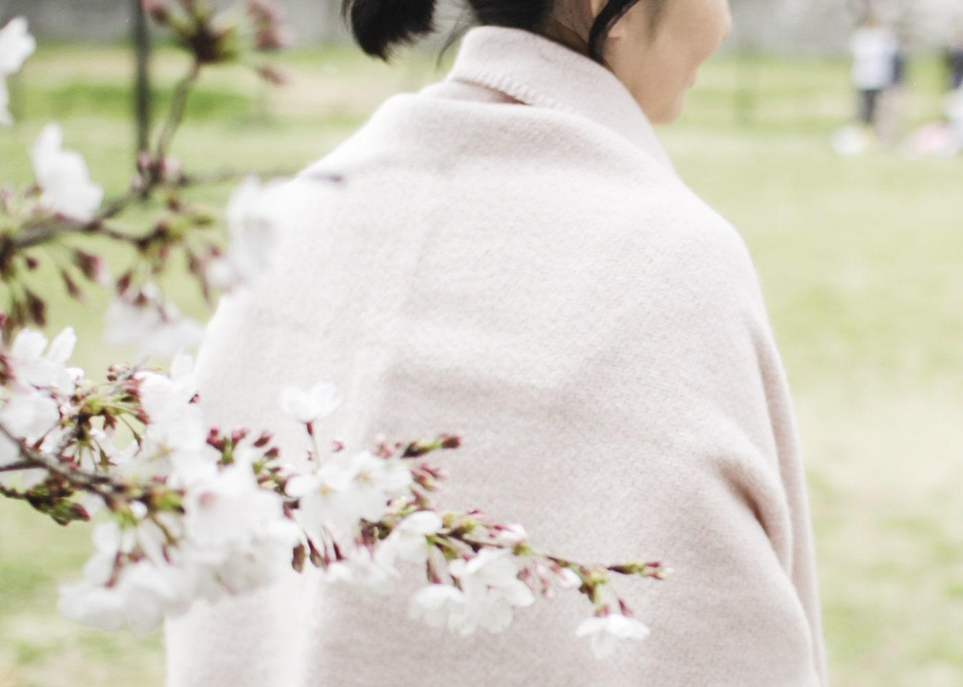 春もいっしょに、ポケットショールのイメージ画像