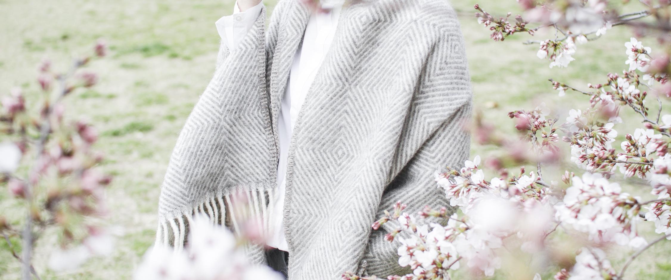 春も一緒、ポケットショールのイメージ画像